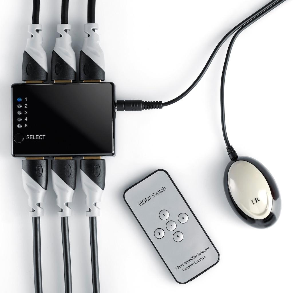 CSL 5-Port HDMI Switch inkl. Fernbedienung & Verstärker