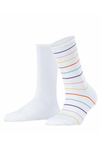 Esprit Socken »Multi Stripe 2-Pack«, (2 Paar), aus Biobaumwolle kaufen