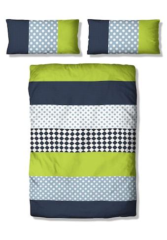 Lüttenhütt Kinderbettwäsche »Elli«, mit verspieltem Streifen-Muster kaufen