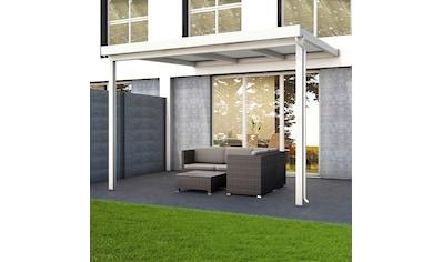 GUTTA Terrassendach »Premium«, BxT: 309x306 cm, Dach Polycarbonat gestreift weiß kaufen
