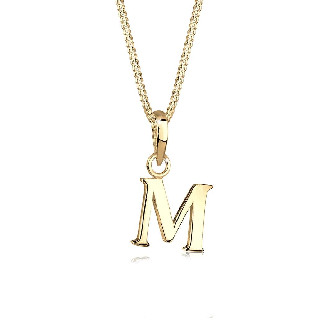 Elli Collierkettchen »Buchstaben M 925 Sterling Silber«