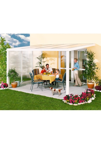 Beckmann Terrassendach »Exklusiv 8«, BxT: 407x371 cm, mit Regenrinne kaufen