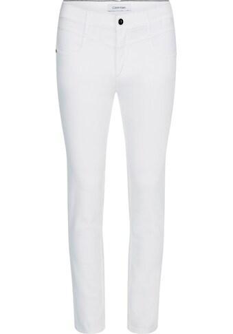 Calvin Klein Slim-fit-Jeans »MID RISE SLIM ANKLE«, mit leichten Faded-Out Effekten &... kaufen