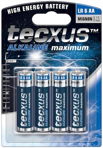 tecxus Batterie »mit langer Lebensdauer, 4er Pack«, (Packung), Mignon (LR6 / AA)... kaufen