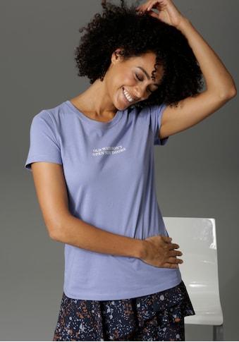 Aniston CASUAL Print-Shirt, mit Statement-Schriftzug - NEUE KOLLEKTION kaufen