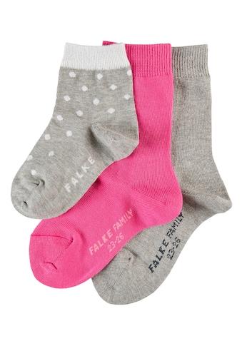 FALKE Socken »Mixed 3-Pack«, (3 Paar), aus hautfreundlicher Baumwolle kaufen