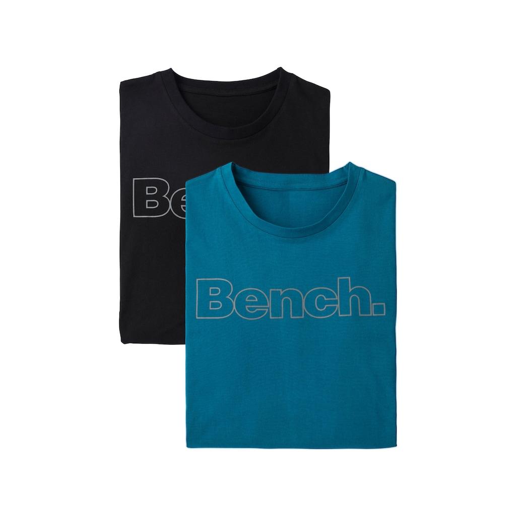 Bench. Langarmshirt, mit Bench. Print vorn
