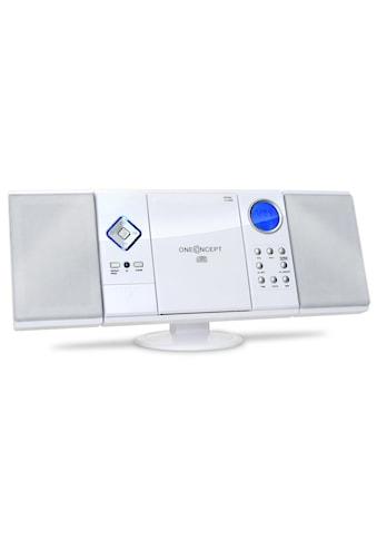 ONECONCEPT Stereoanlage Radio CD Player vertikal MP3 USB SD AUX Uhr Wecker »V 12« kaufen