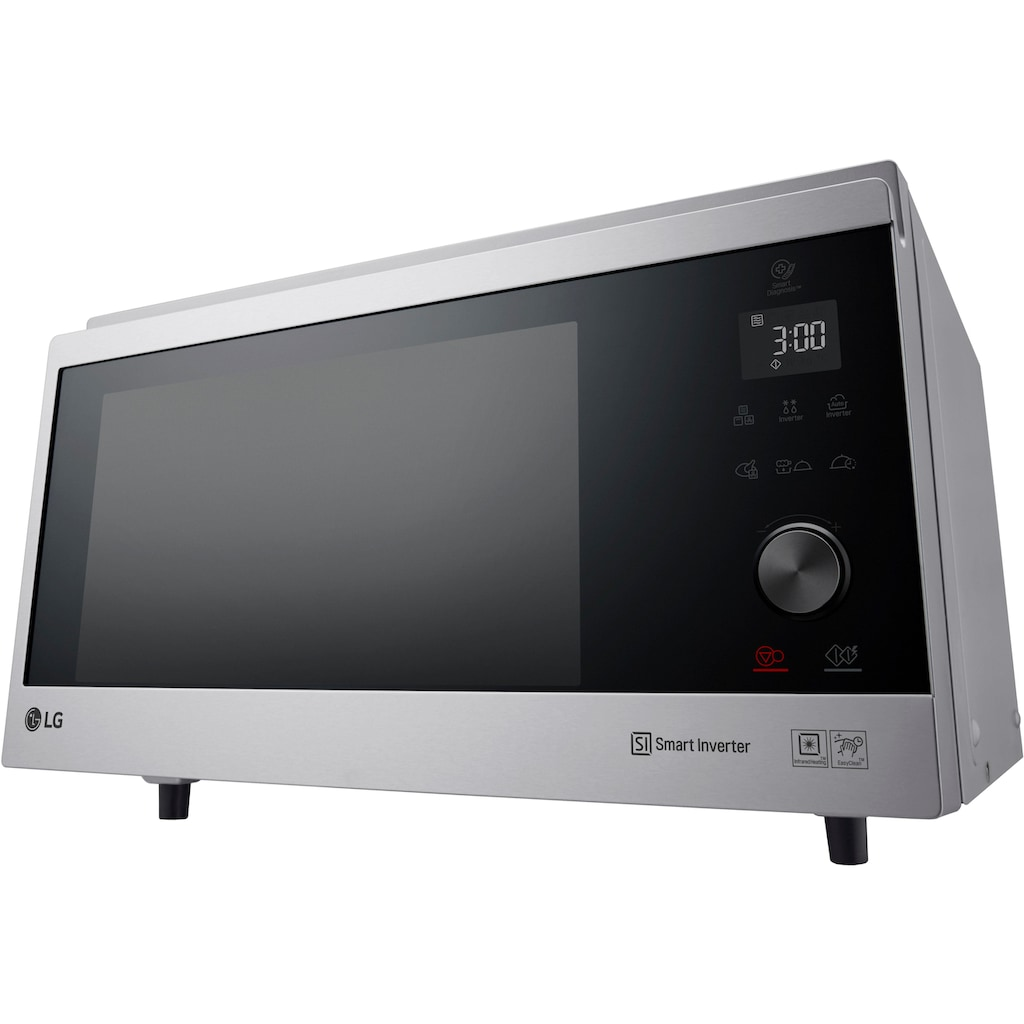 LG Mikrowelle »MJ 3965 ACS«, Mikrowelle, 1900 W, Smart Inverter Technologie, echte Glasfront