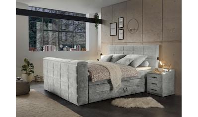 Boxspringbett »Denver«, (7 tlg.), inkl. zwei Bettkästen, Topper und motorisierter TV-Halterung bis 40 Zoll kaufen