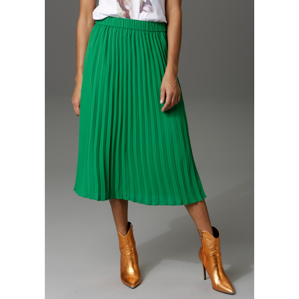 Aniston CASUAL Plisseerock, in trendiger Farbpalette