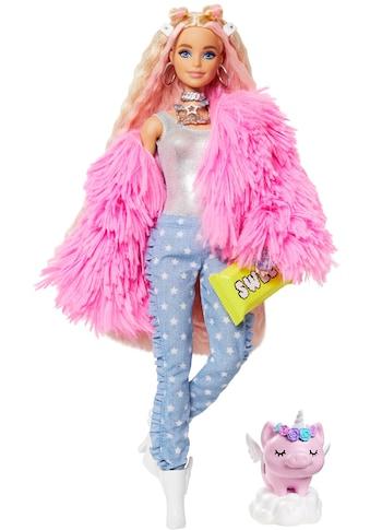 Mattel® Anziehpuppe »Barbie EXTRA«, blond, mit flauschiger rosa Jacke kaufen