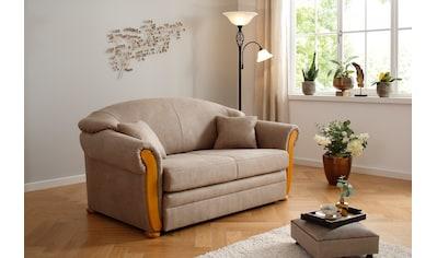 Home affaire Schlafsofa »Milano«, Hoher Sitzkomfort mit Schlaffunktion und Bettkasten, incl. Zierkissen kaufen