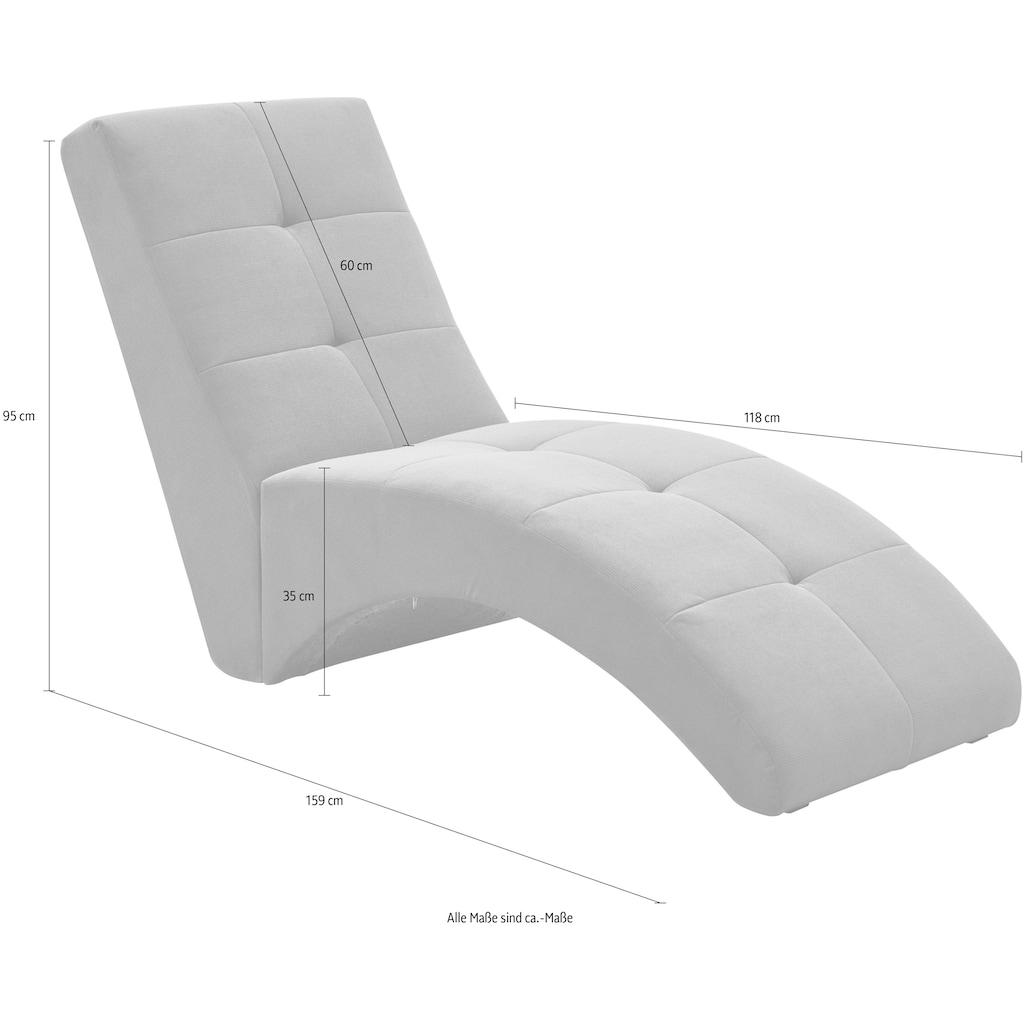 ATLANTIC home collection Relaxsessel »CARIN«, Polsterliege zum Lesen, Fernsehen oder auch fürs Gaming