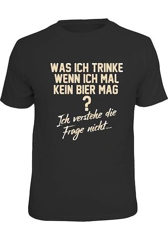 Rahmenlos T-Shirt mit lustigem Bier-Spruch kaufen