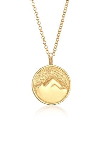 Elli Kette mit Anhänger »Berge Alpen Mountain Wiesn Münze 925 Silber« kaufen