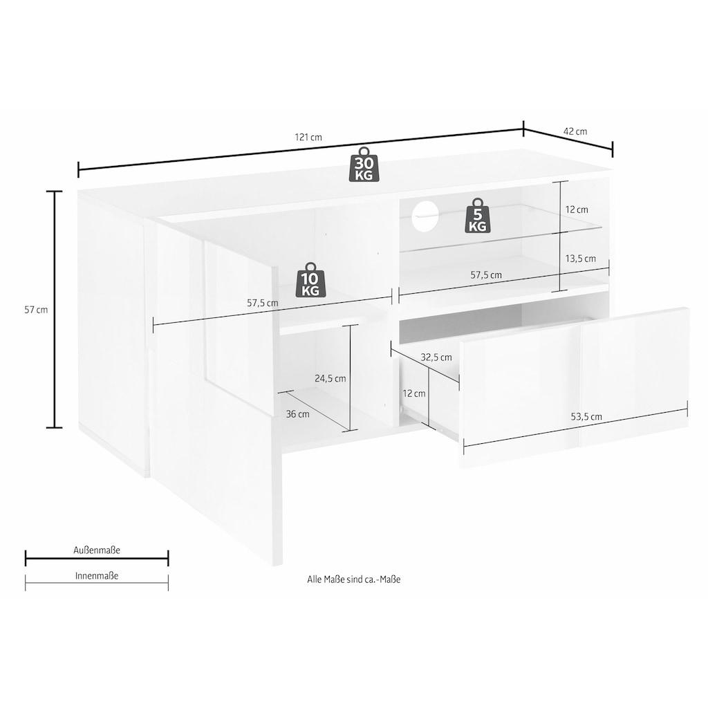 LC Lowboard »Dama«, Breite 121 cm
