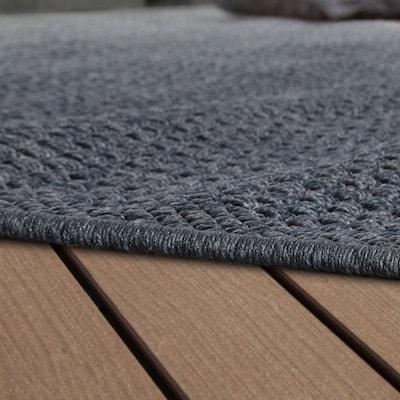 Hochflor-Teppich in Dunkelgrau