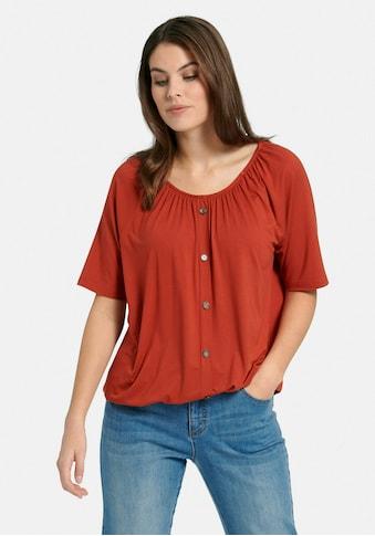 Emilia Lay Rundhalsshirt »Rundhalsshirt«, mit Zierknopf-Leiste kaufen