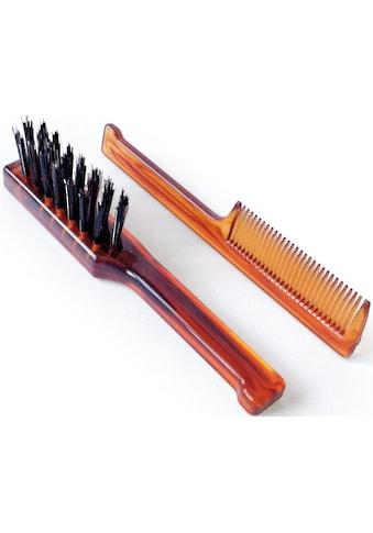 """Mondial Antica Barberia Haarbürsten - Set """"Bartbürste und  - kamm"""", 2 - tlg. kaufen"""