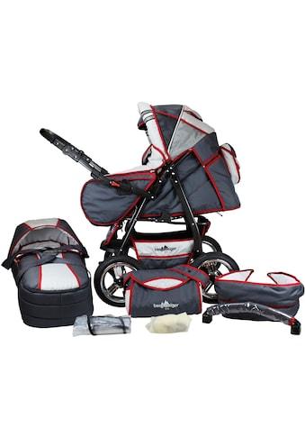 bergsteiger Kombi-Kinderwagen »Rio, grey & red stripes, 3in1«, mit Lufträdern; Made in... kaufen