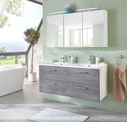 Doppel-Waschtisch in Grau