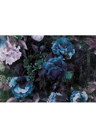 CONSALNET Vliestapete »Blauer Blumen Mix«, in verschiedenen Größen kaufen