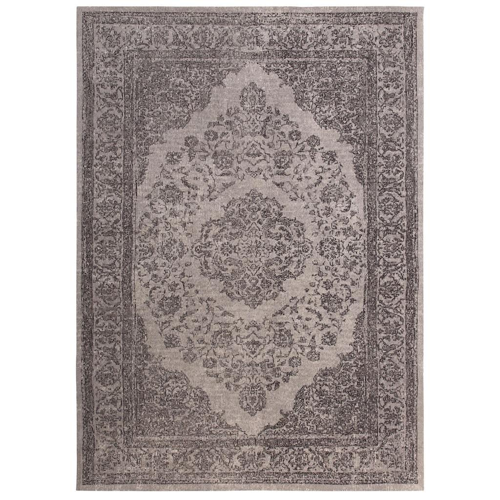 DELAVITA Teppich »Sedat«, rechteckig, 8 mm Höhe, Flachgewebe, Vintage-Optik, Wohnzimmer