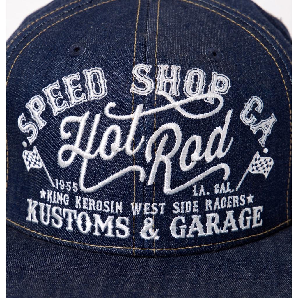 KingKerosin Trucker Cap »Hot Rod«, im coolen Denim-Style