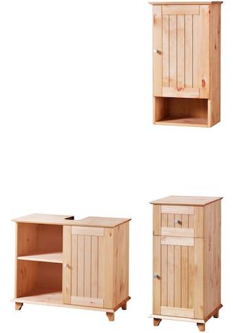 welltime Badmöbel-Set »Venezia Landhaus«, (3 St.), Badmöbel-Set aus massivem Kiefernholz kaufen