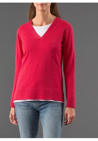 MAERZ Muenchen V-Ausschnitt-Pullover »Modern Merino«, unifarben kaufen