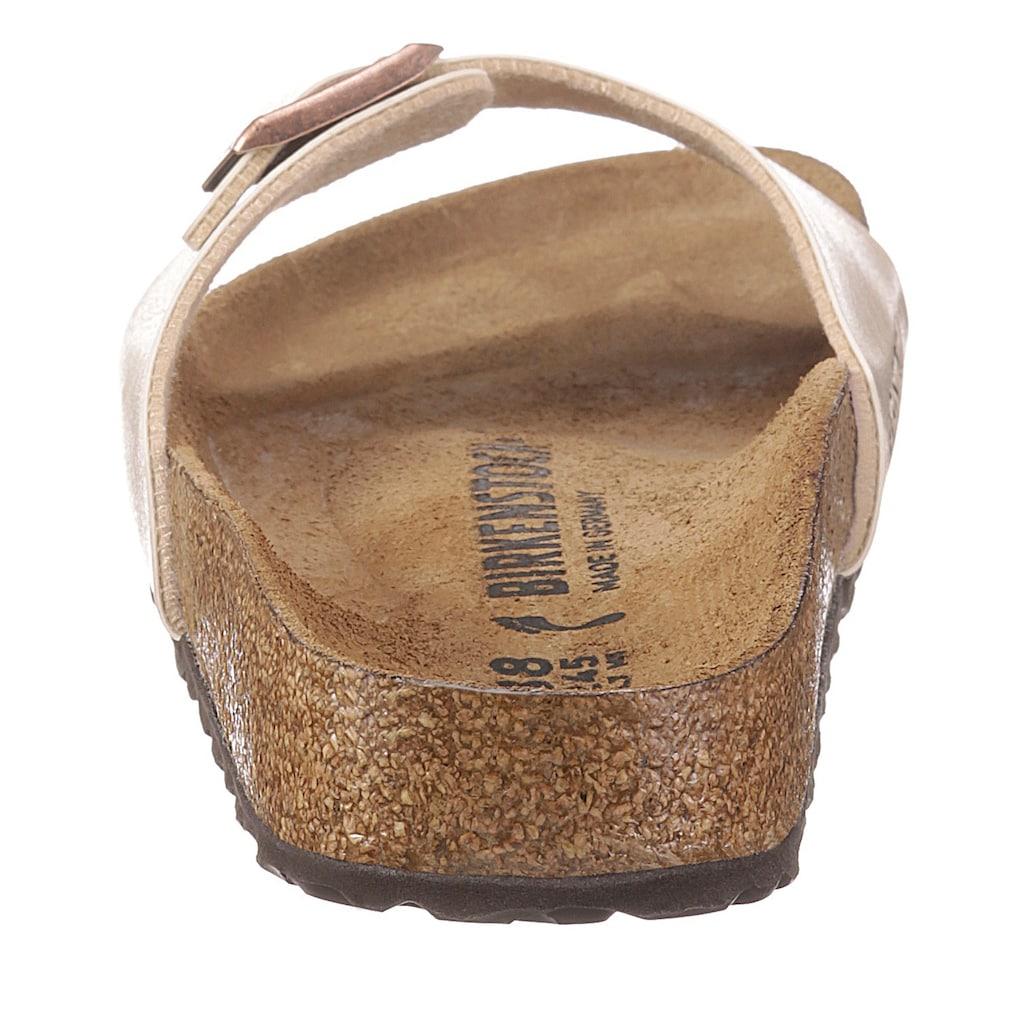 Birkenstock Pantolette »Madrid«, mit Schnallenverschluss, Schuhweite: schmal