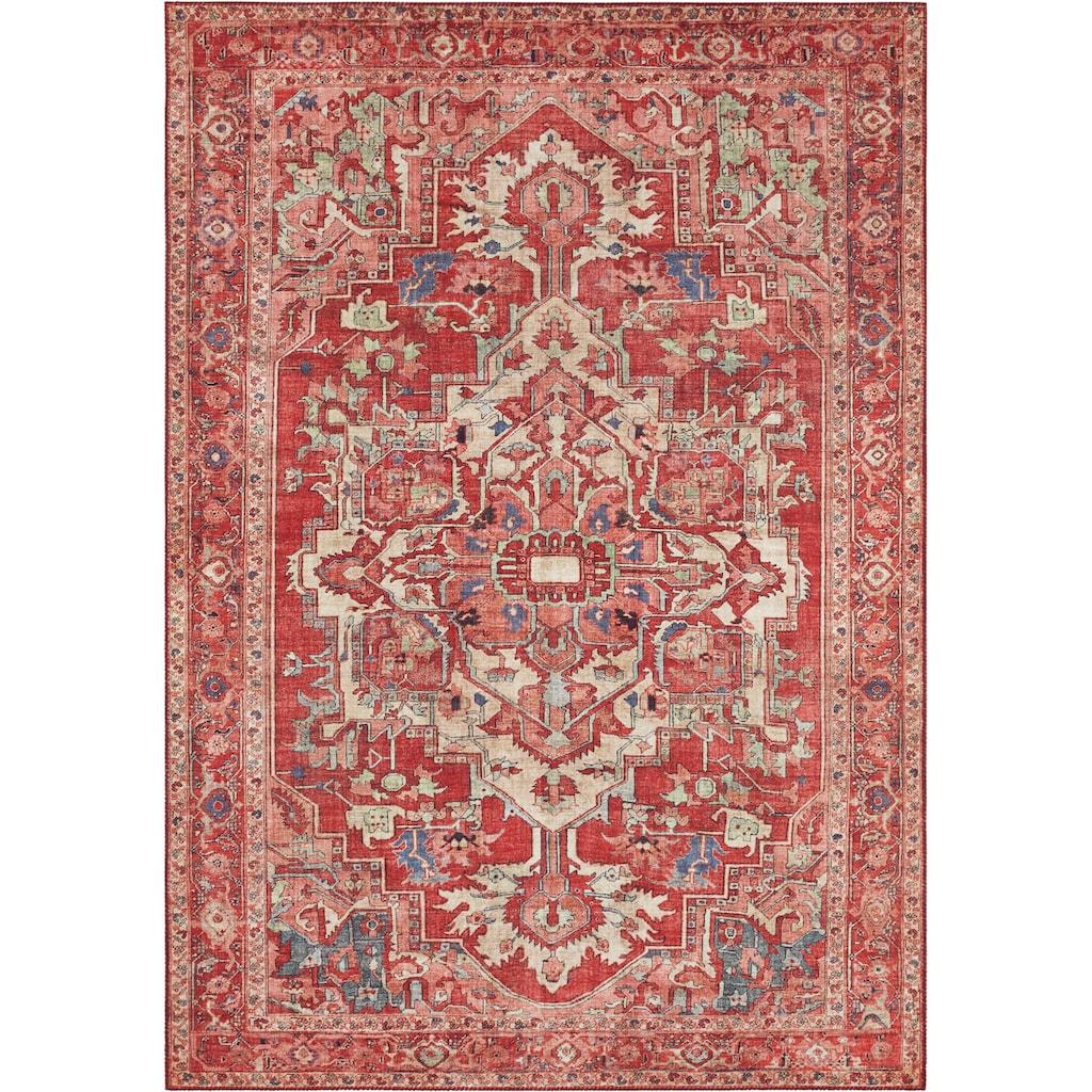 NOURISTAN Teppich »Leta«, rechteckig, 5 mm Höhe, Vintage Design, Orient-Optik, Wohnzimmer