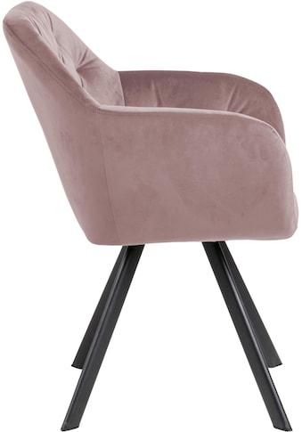 andas Esszimmerstuhl »Lorelei«, mit einem weichen Samtvelour Bezug, wahlweise mit und ohne Autorückführung, Sitzhöhe 48 cm kaufen