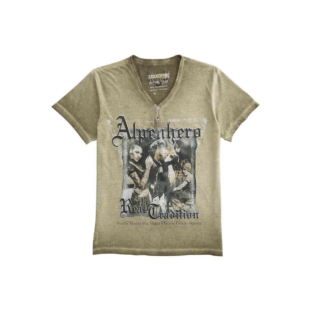 Stockerpoint Trachtenshirt, mit Knopfleiste