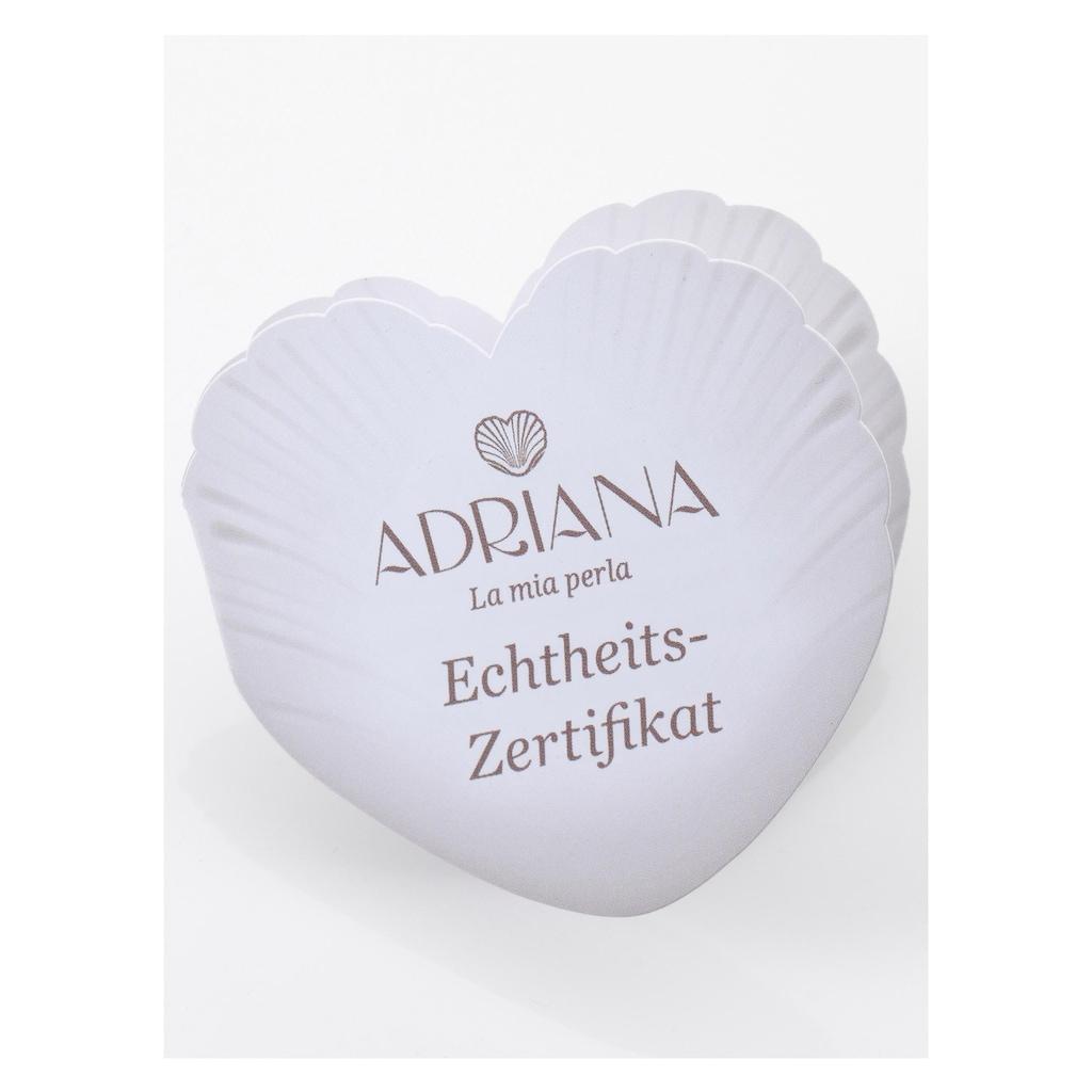 Adriana Paar Creolen »R119«, mit Süßwasserzuchtperlen, Made in Germany