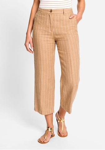Olsen Leinenhose, mit seitlichen Taschen und Gürtelschlaufen kaufen
