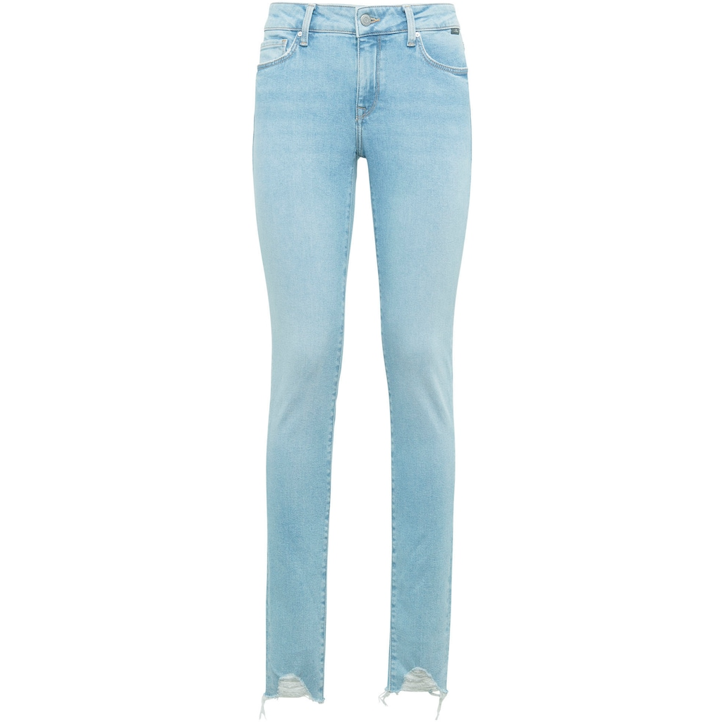 Mavi Skinny-fit-Jeans »ADRIANA-MA«, mit leicht ausgefranster Kante am Beinabschluss
