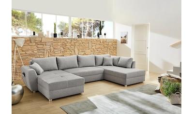 Jockenhöfer Gruppe Wohnlandschaft »Starnberg«, mit Bettfunktion und Bettkasten, Ottomane links oder rechts montierbar kaufen