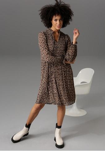 Aniston CASUAL Blusenkleid, mit unterschiedlichen Plissee-Falten - NEUE KOLLEKTION kaufen