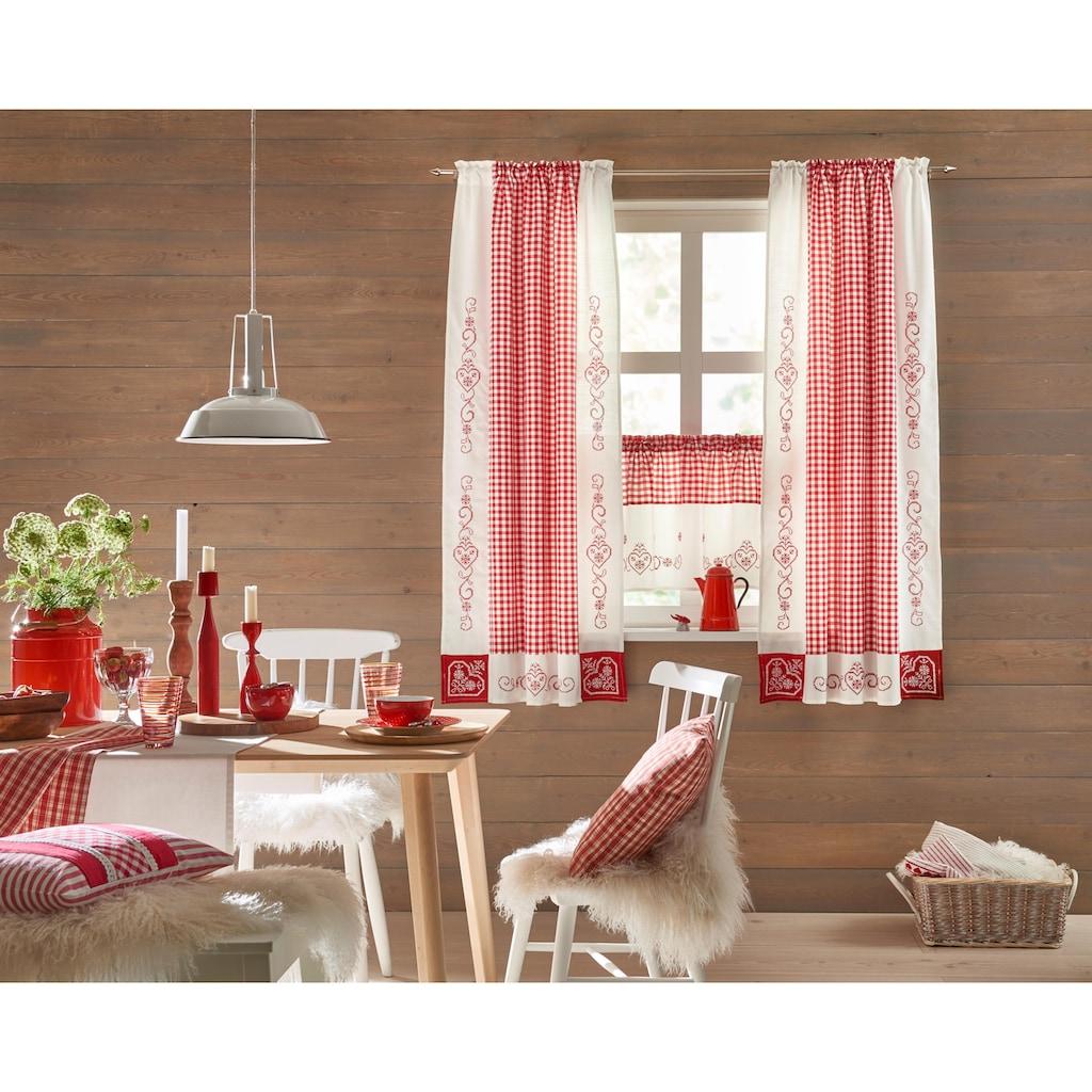 HOSSNER - ART OF HOME DECO Gardine »Kulm«, Landhaus-Look