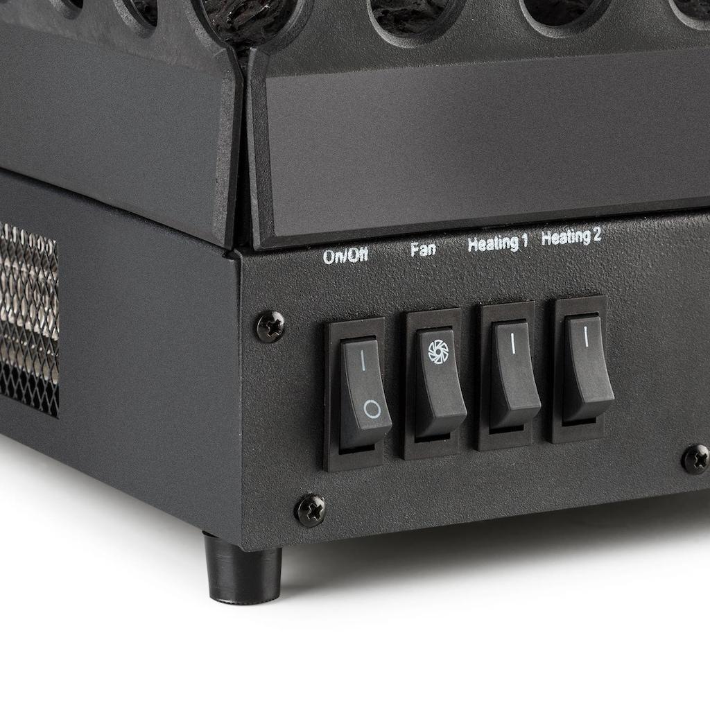 Klarstein Elektrischer Kamin Kamineinsatz 1000/2000 W 2 LED