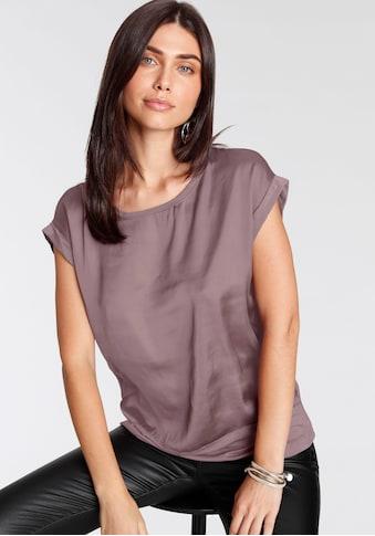soyaconcept Shirtbluse »SC-THILDE6«, Leicht glänzender Satin im Vorderteil kaufen