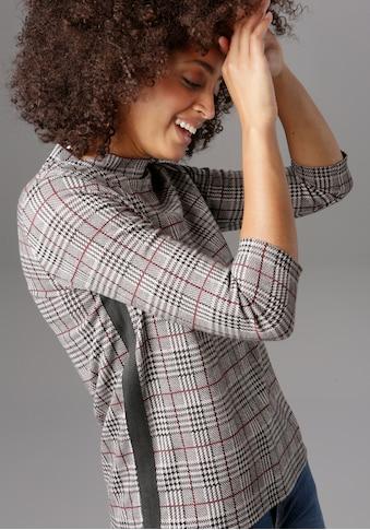 Aniston SELECTED Sweatshirt, mit modischem Galonstreifen kaufen