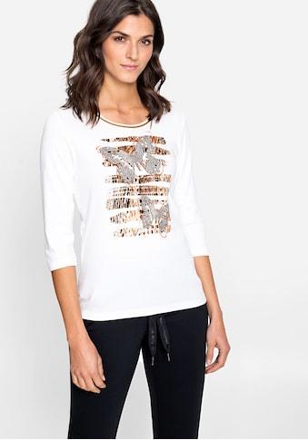 Olsen Rundhalsshirt, mit Schmetterlingen und abstraktem Animalprint kaufen