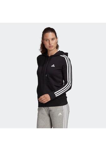 adidas Performance Kapuzensweatjacke »WOMEN 3STRIPES FT FULLZIP HOODIE« kaufen