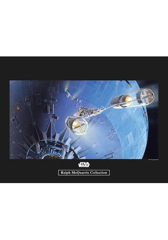 Komar Poster »Star Wars Classic RMQ Death Star Attack«, Star Wars kaufen