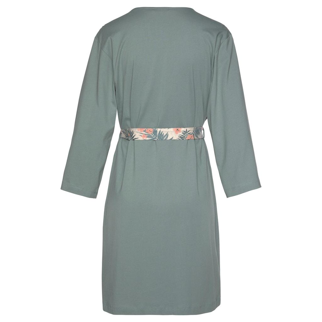 LASCANA Kimono, in uni und Allover-Druck