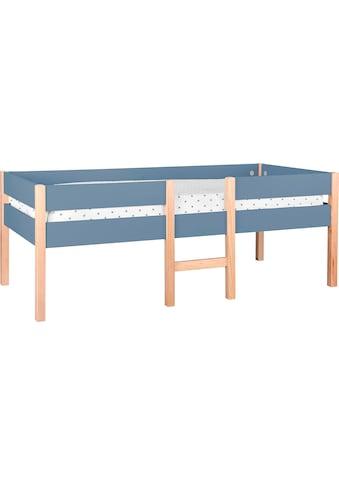 Lüttenhütt Hochbett »Lizzi«, (5 tlg., mit Leiter und 2 Schubladen, inkl. Lattenrost), mit Leiter und 2 Schubladen, inkl. Lattenrost kaufen