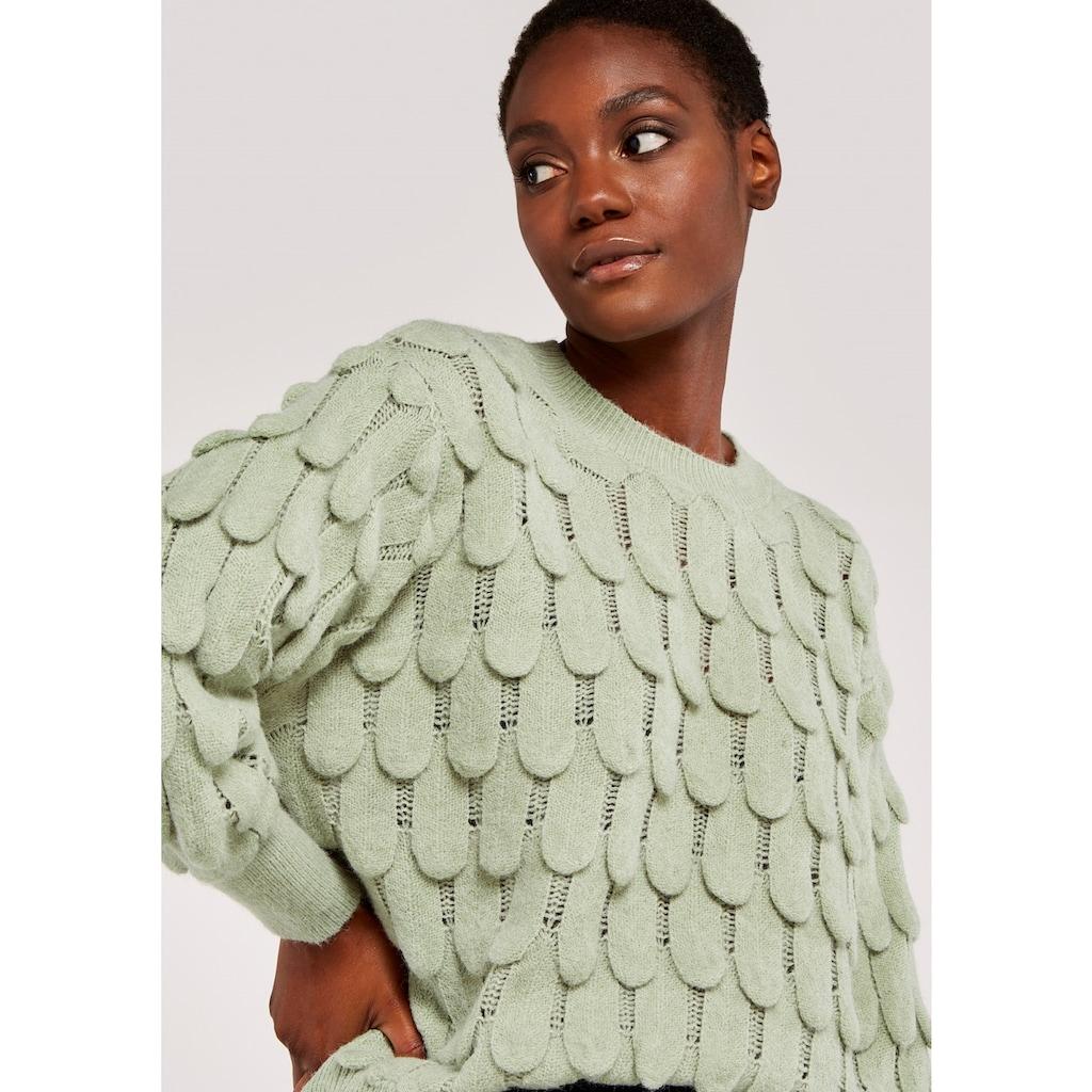 Apricot Strickpullover »Scallop Knit Oversized Jumper«, mit semitransparenten Details